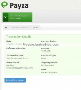 Payza payment from Neobux